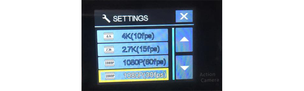 EKEN H9 problem - 4K and 1080p 60fps not available