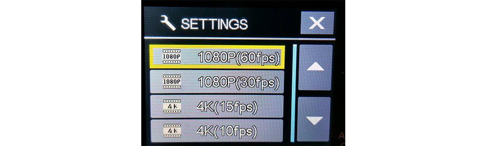 EKEN H9 problem - 720p 120fps not available