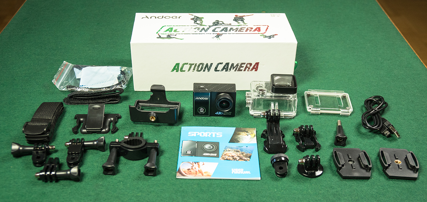 Andoer C5 Pro - included accessories