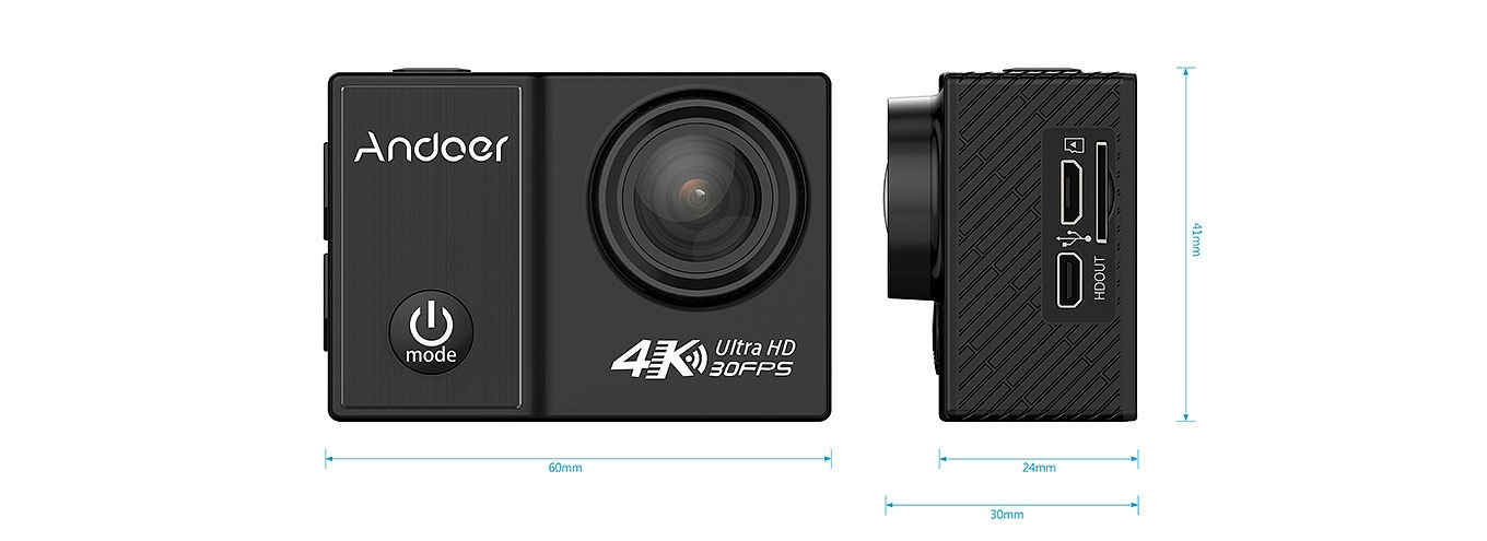 Andoer C5 Pro Dimensions