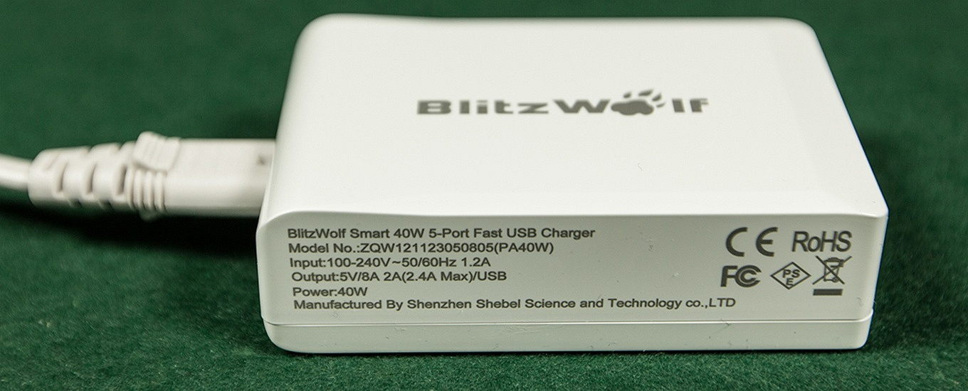 Blitzwolf USB charger - 2A Output per port