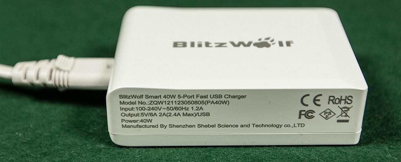 Blitzwolf USB charger - 2A Output per port