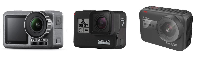 DJI OSMO Action vs GoPro Hero7 black vs SJCAM SJ9 Strike - best action camera 2019