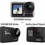 DJI Osmo Action vs GoPro Hero7 black vs SJCAM SJ9 Strike – Comparison