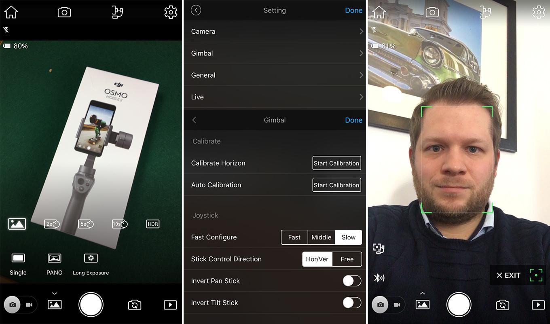 DJI Go App - Camera / Settings / Active Track