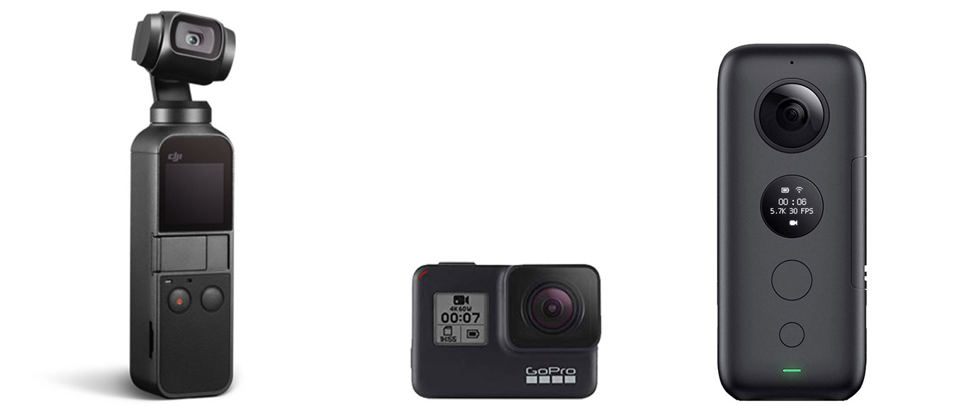 DJI Osmo Pocket vs GoPro Hero7 black vs Insta360 One X
