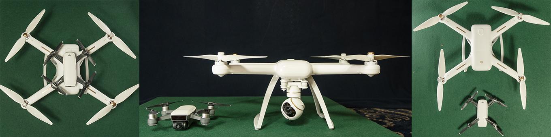 DJI Spark vs Mi 4K Drone - Size comparison