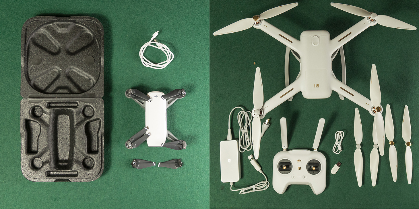 DJI Spark vs Xiaomi Mi 4K Drone - What's in the box?