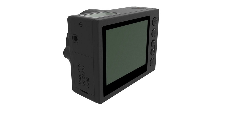 "E1 Camera - 2,5"" live view screen, 3,5mm mic jack & ports"