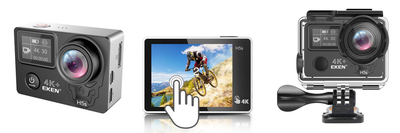 """EKEN H5s plus - 2"""" touchscreen"""