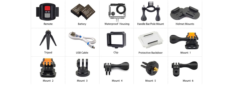 EKEN H6s Accessories