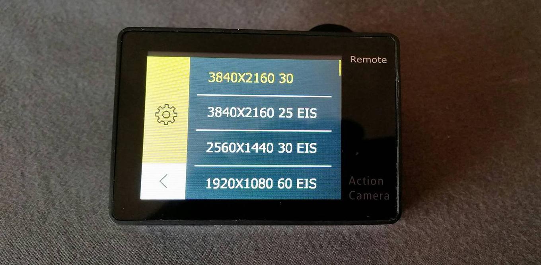 EKEN H6s - screen