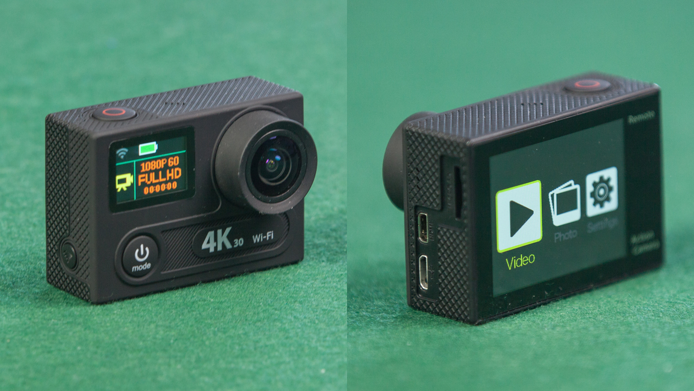 Eken H8 4k 30fps Review Manual El Producente Action Camera H3r Ultra Hd Bult In Remote Control Cam Front Backside