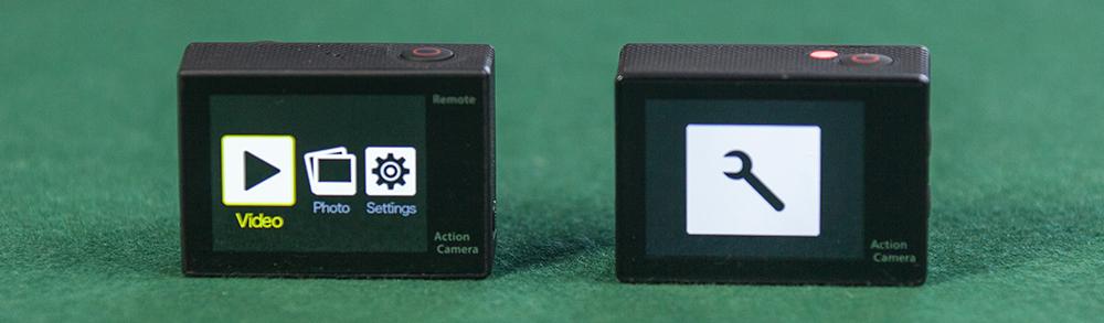 EKEN H8 vs EKEN H9 - LCD Screen