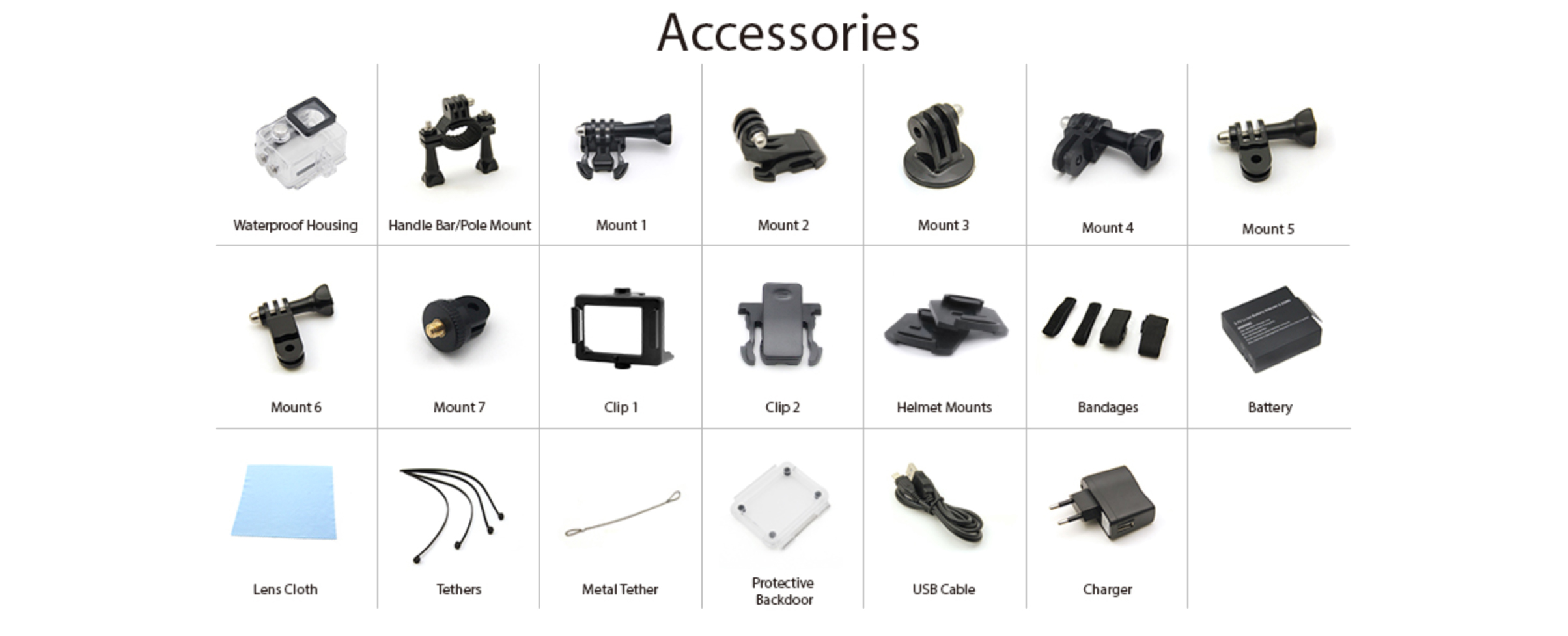 Action Camera Store We Provide You The Best For H3r Ultra Hd 4k Bult In Remote Control Cam Eken H9 Included Accessories