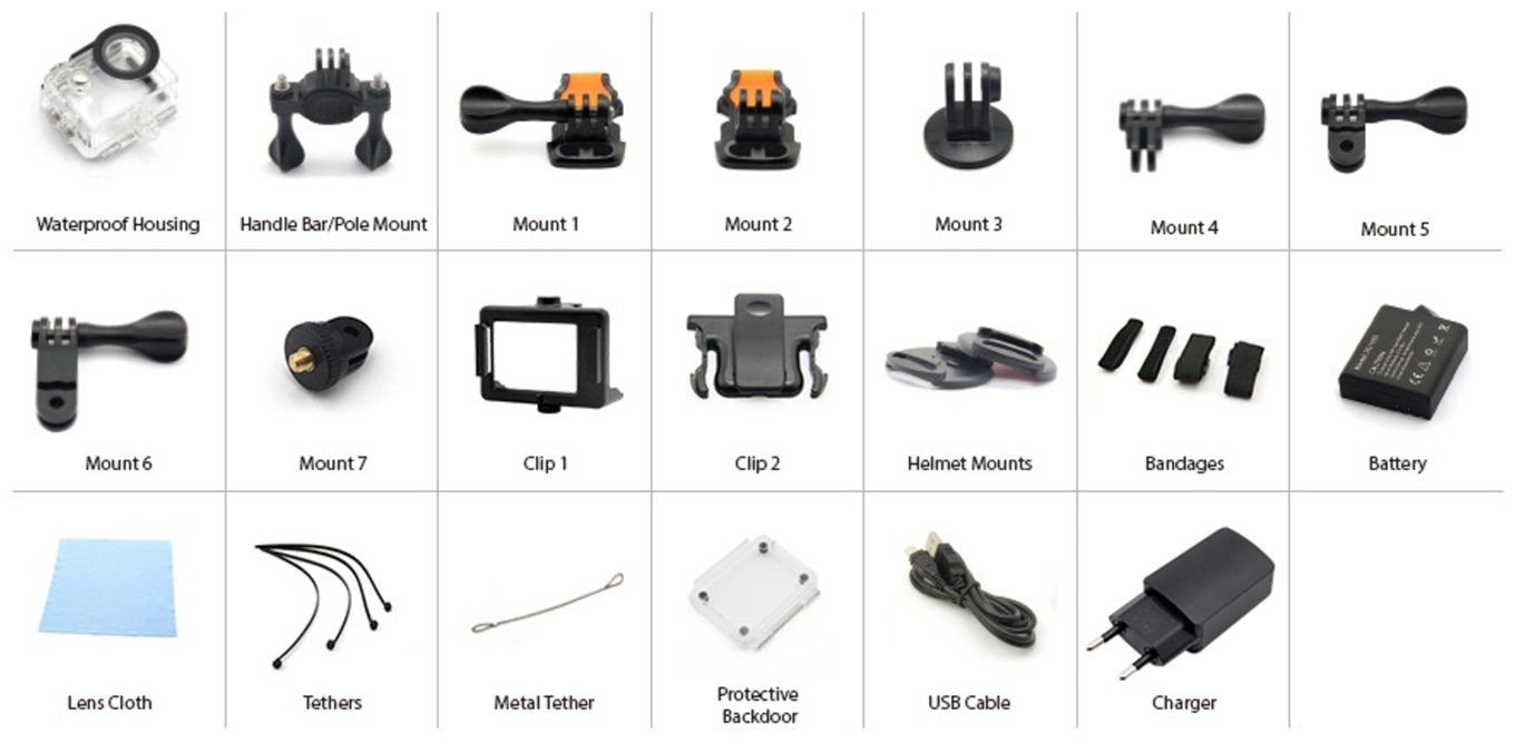 Eken H9 4k Action Camera Review Manual El Producente Micro Usb Wiring Diagram In Addition Hdmi To Cable Pinout Included Accessories Updated Set