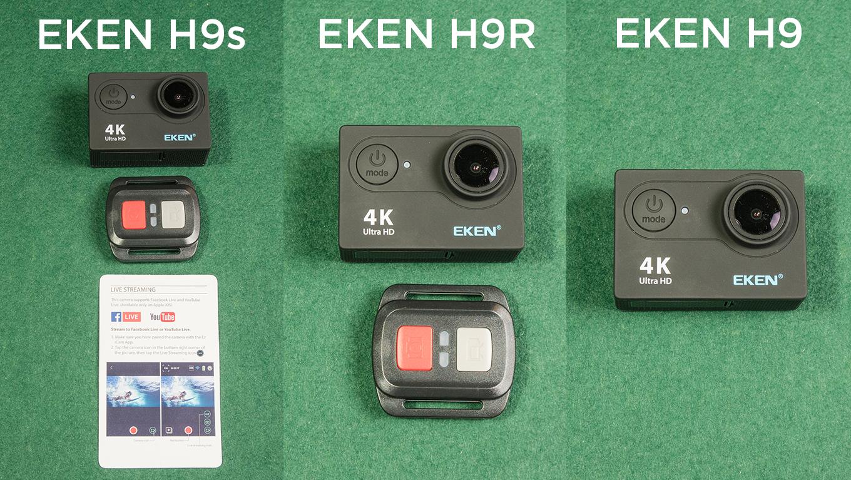 EKEN H9 vs EKEN H9R vs EKEN H9s