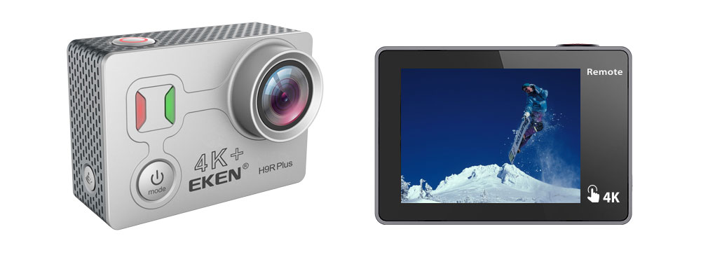 "EKEN H9R Plus offers a 2"" touchscreen"