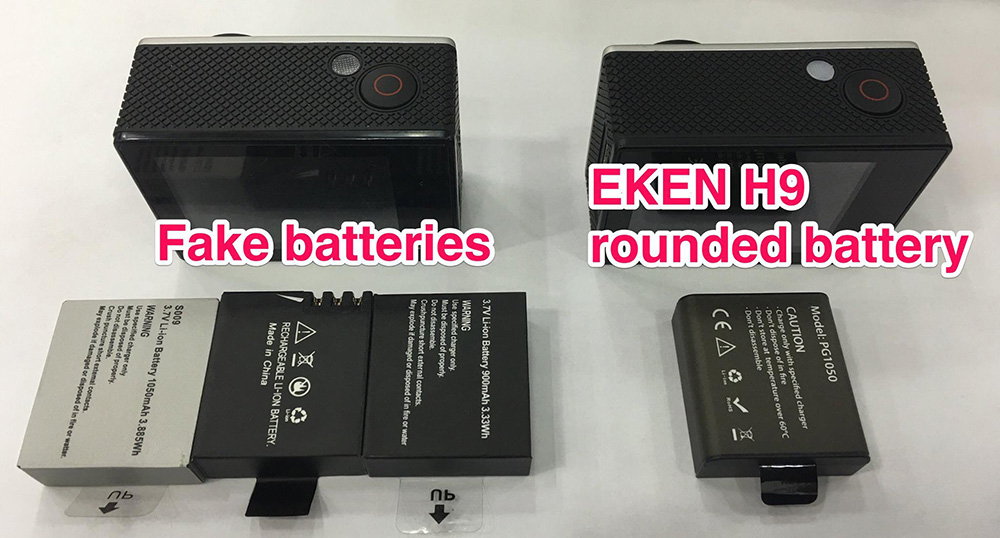 New EKEN batteries