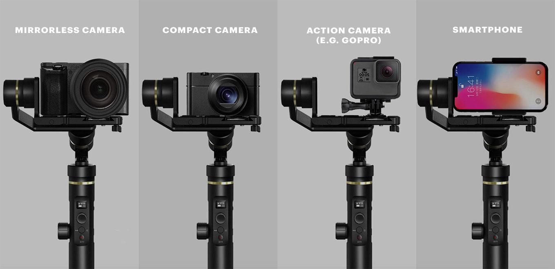 Feiyu G6 Plus for Mirrorless Cameras, Action Cameras & Smartphone