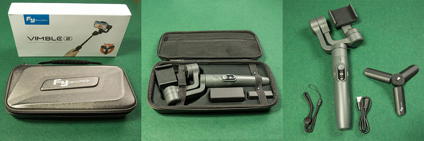 Feiyu Vimble 2 comes with carrying case and tripod