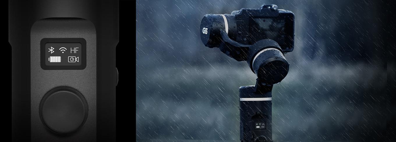 Feiyu G6 gimbal controls GoPro Hero6 & Hero5
