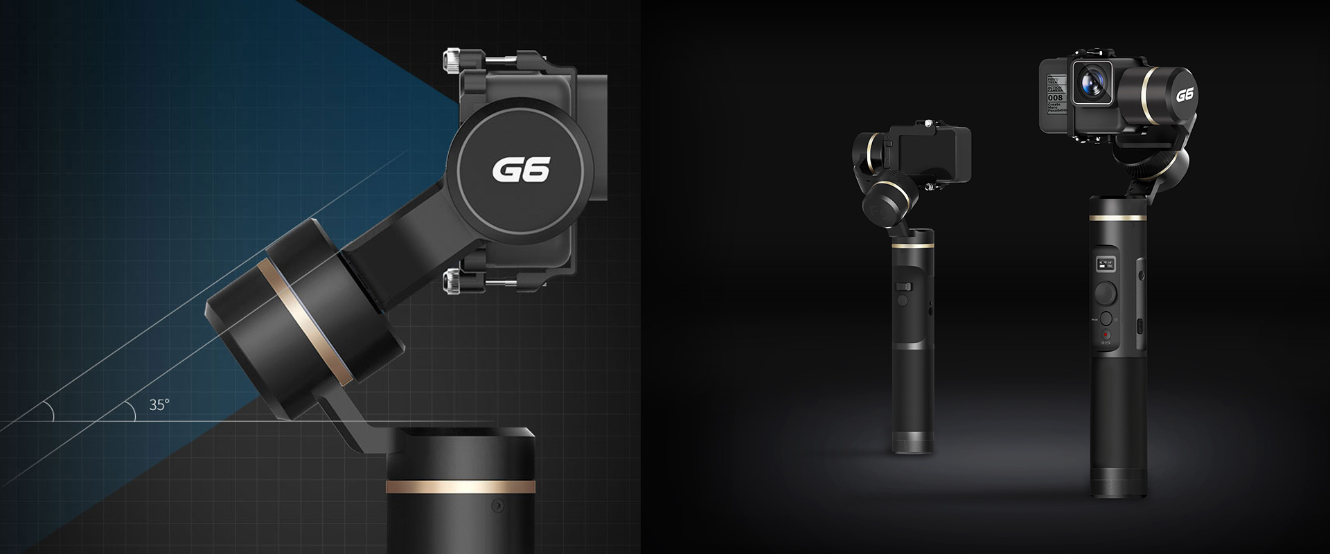 Feiyu G6 - 3-axis, splash-proof gimbal - GoPro Hero6 black, GoPro Hero5 black