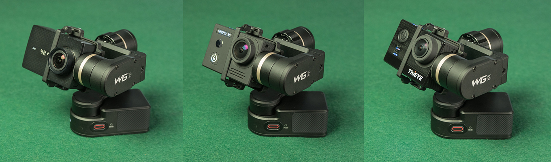 Feiyu WG2 with YI 4K+ Action Camera, Firefly 8S & Thieye T5