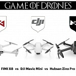 FIMI X8 SE vs DJI Mavic Mini vs Hubsan Zino Pro – Comparison