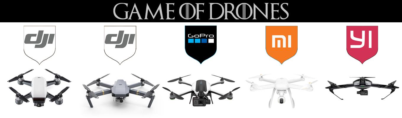 Game of Drones - DJI Spark, DJI Mavic Pro, GoPro Karma, Mi Drone 4K, Yi Erida
