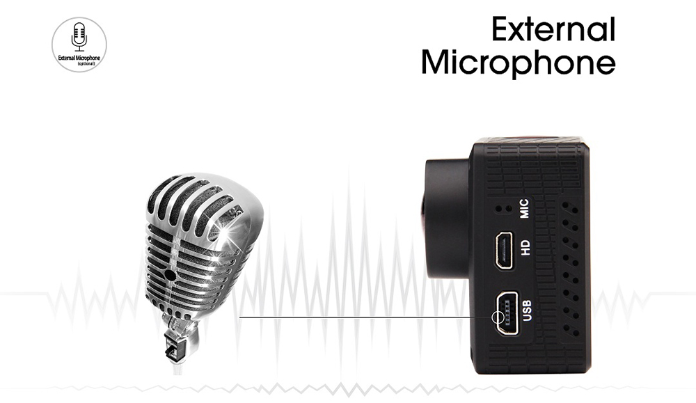 Git2 offers an external mic via miniUSB port