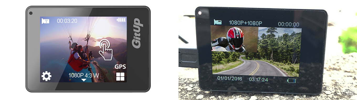 "GitUp G3 Duo - 2"" Touch Screen"