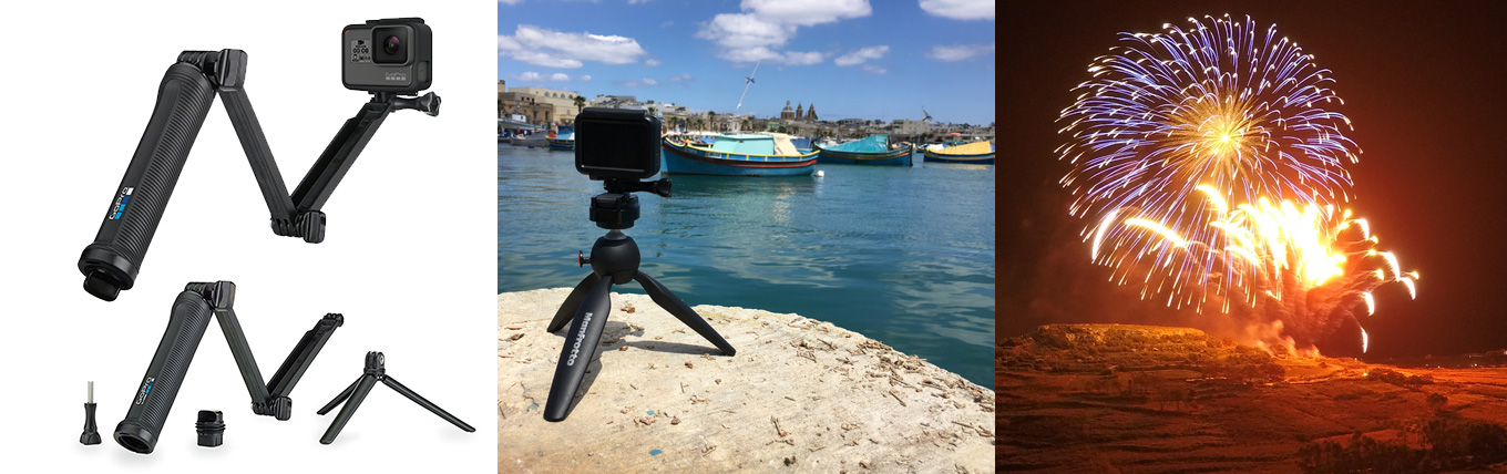 GoPro 3-way - Manfrotto Pixie (Time-lapse) - Long Exposure Shot with Hero5