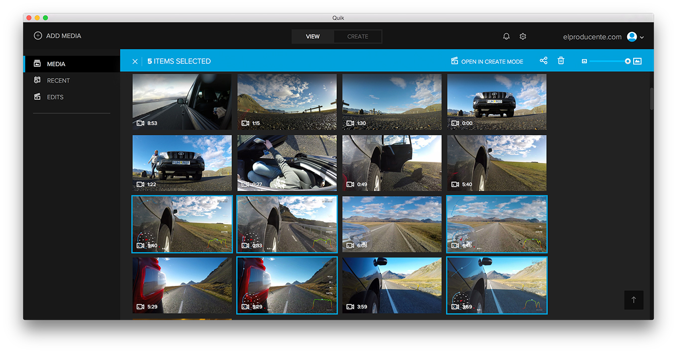 GoPro Quick App - new clips with GPS Data overlay created
