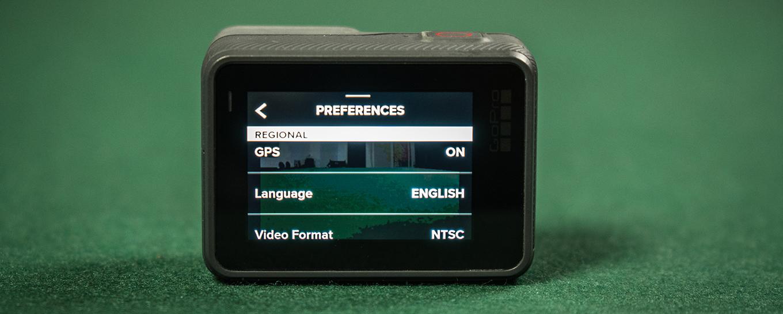 GoPro Hero5 black - Preferences - GPS