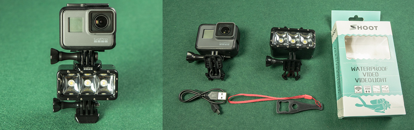GoPro Hero5 black with LED light