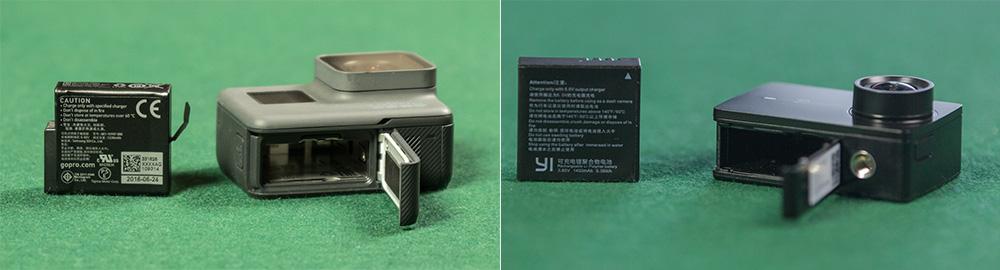 GoPro Hero5 black vs YI 4K - Battery