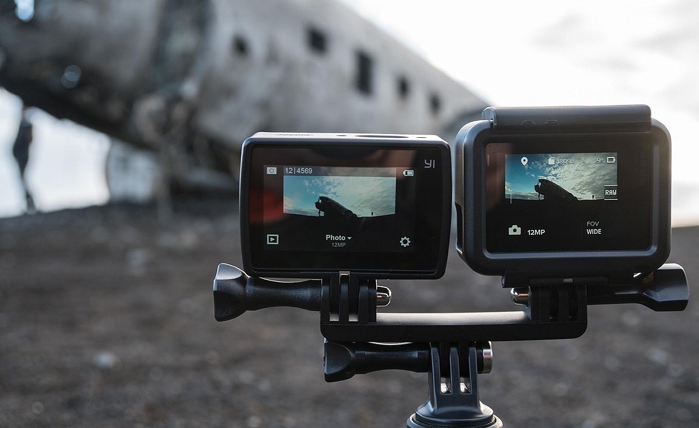 YI 4K vs GoPro Hero5 black - screen