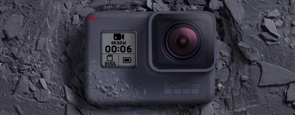 GoPro Hero6 - 4K 60fps, 1080p 240fps