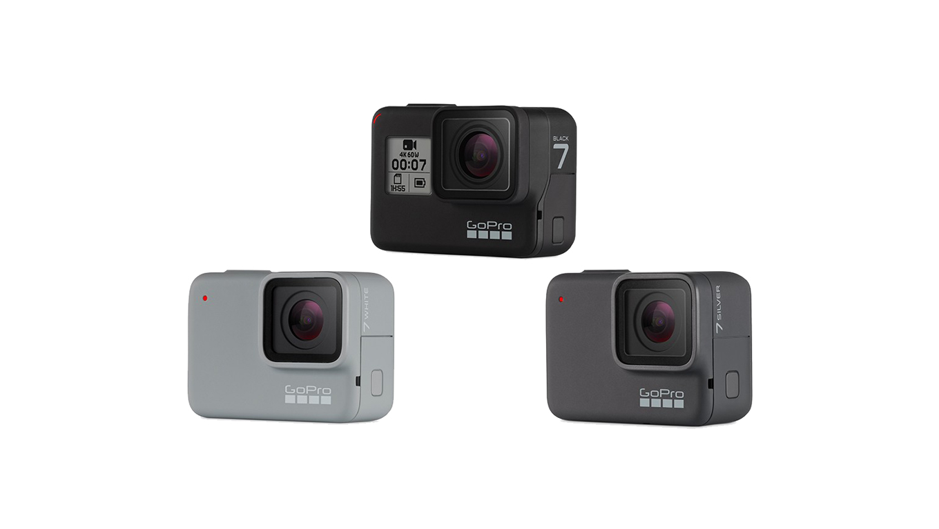 GoPro Hero7 black, silver & white - all specs compared - el Producente
