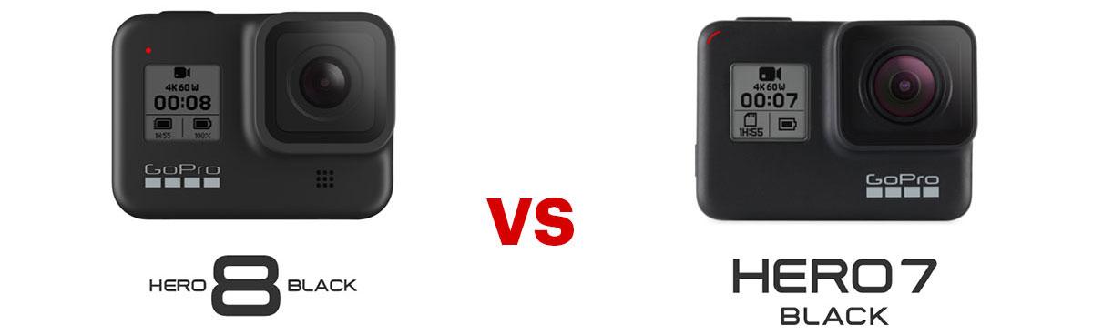 GoPro Hero8 black vs GoPro Hero7 black - all specs compared / Comparison Review