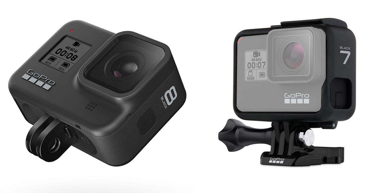 GoPro Hero8 black (foldable mount, fixed lens) vs GoPro Hero7 black (frame mount, replaceable lens)