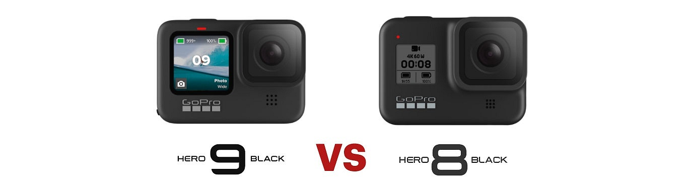GoPro Hero9 black vs GoPro Hero8 black - 5k video, 20mp photo, hypersmooth 3.0
