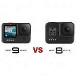 GoPro Hero9 black vs GoPro Hero8 black – all specs compared