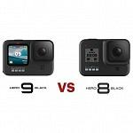 GoPro Hero9 black vs GoPro Hero8 black – all specs compared