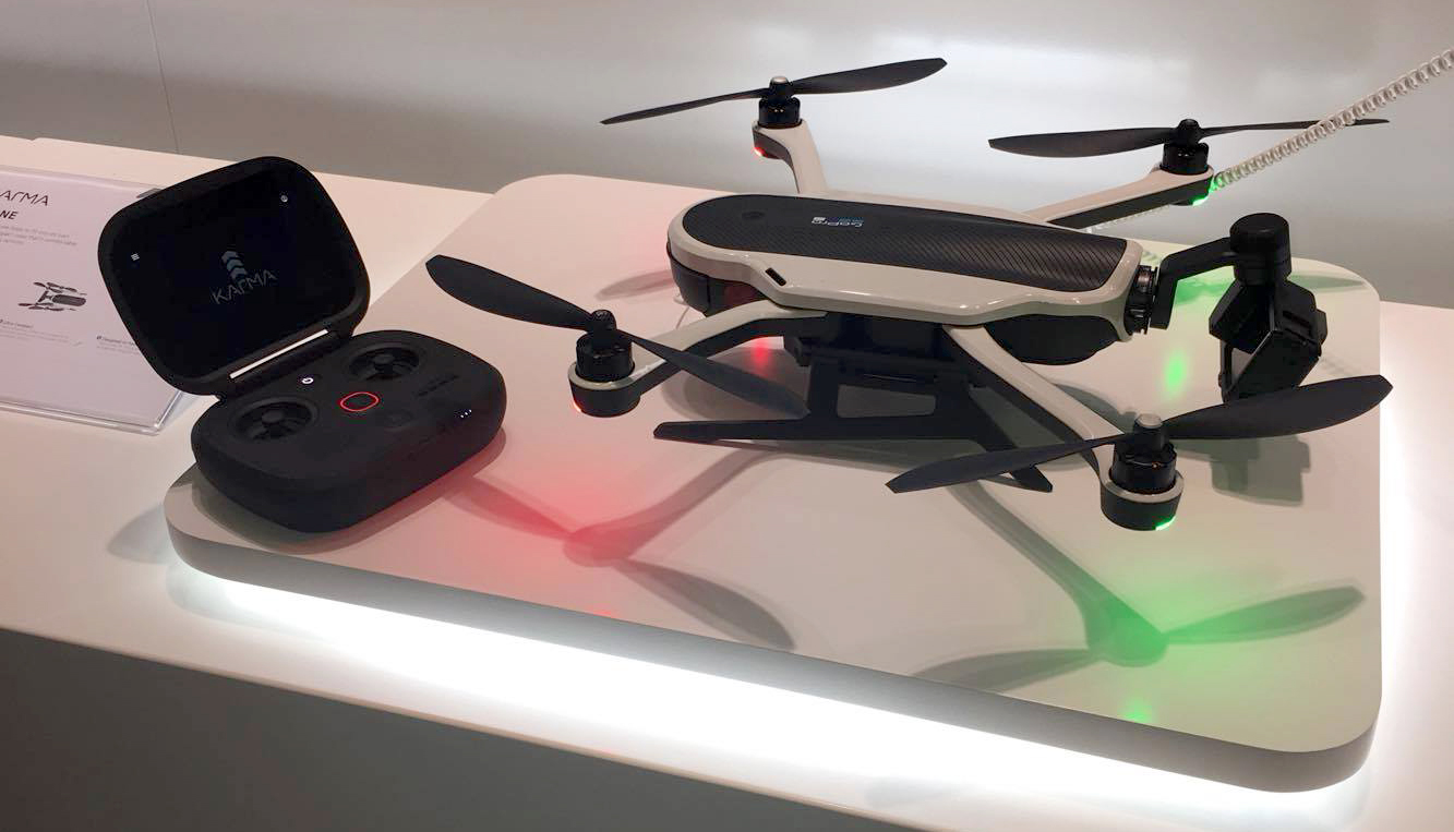 GoPro Karma Drone & Remote on display at Photokina, Cologne