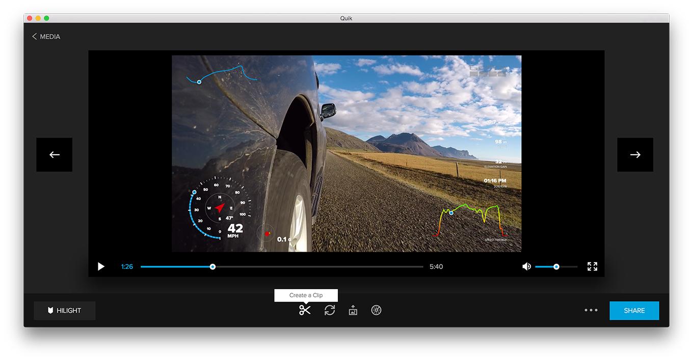 GoPro Quick App - Create Clip