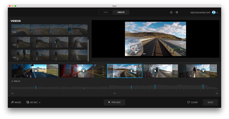 GoPro Quick App - Create Mode