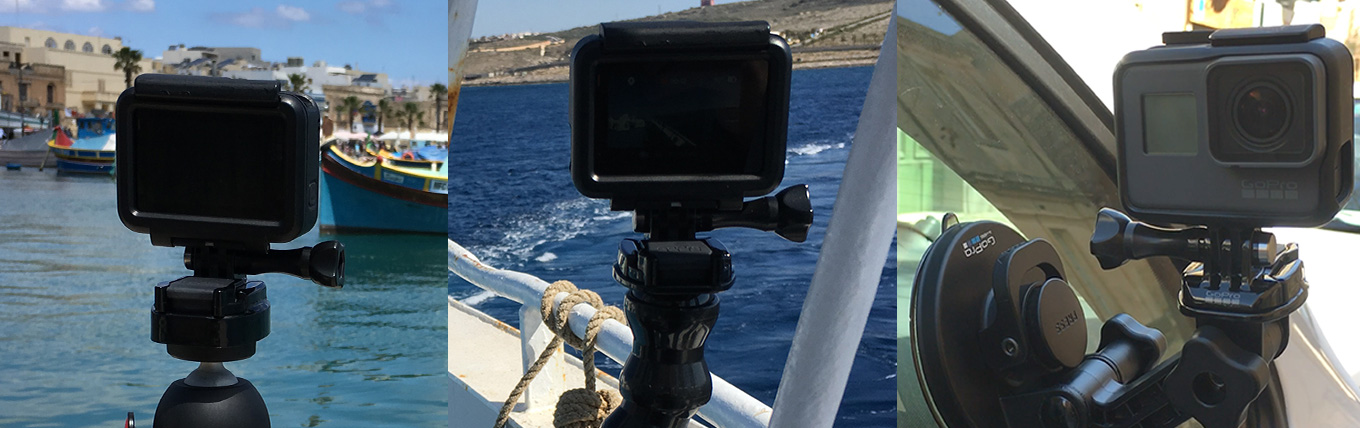 All my mounts use GoPro Quick Release