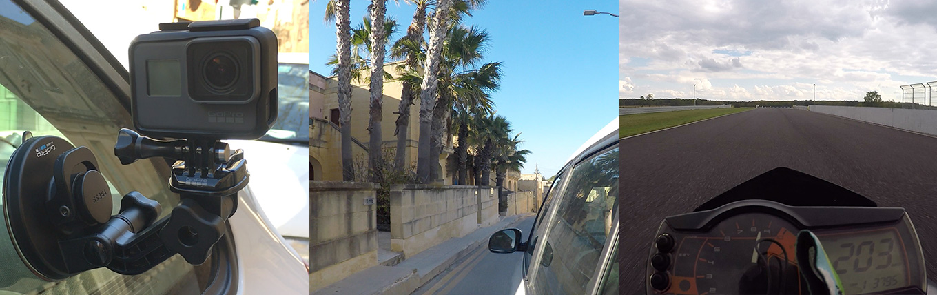 GoPro Suction Cup Mount - (tested at 200 km/h)